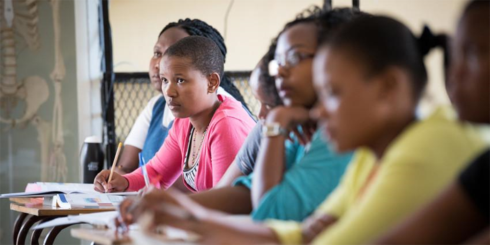 Students in a classroom in Lesotho. Photo: Albin Hillert/WCC, 2017.