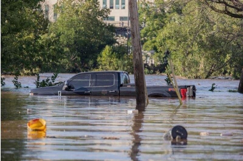 Hurricane Ida flooded truck September 2021
